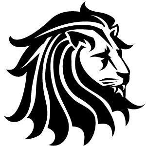 300x300 Lion Black Vector Clip Art