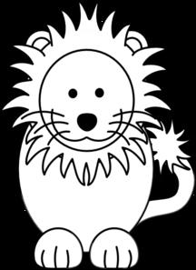 216x297 Lion Black White Clip Art