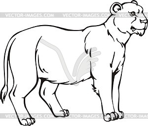 300x256 Mother Lion Clip Art Cliparts