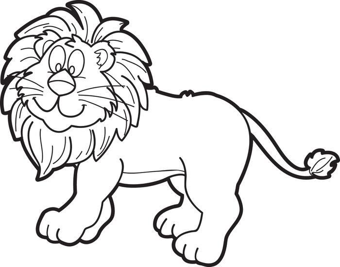 700x551 White Lion Clipart Line Art