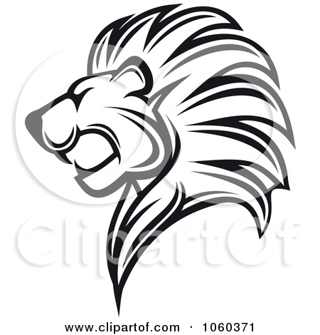 450x470 Lion Head Clipart Black And White 1060371 Royalty Free Vector Clip