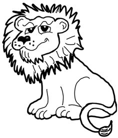 236x276 Cute Cartoon Lions Cute peaceful cartoon lion … Animal is so