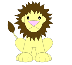 250x226 Drawn cartoon lion