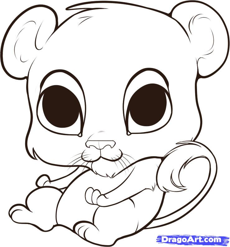 739x795 Drawn lion cute