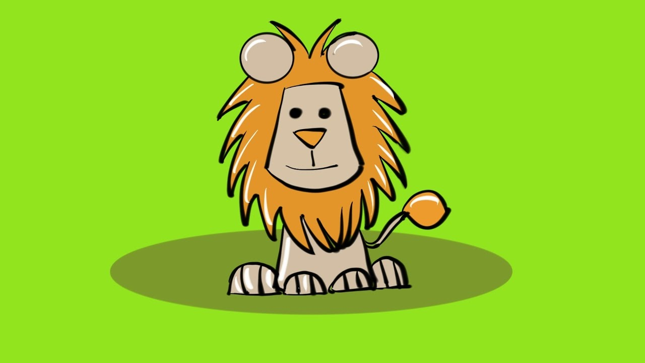1280x720 How To Draw lion How To Draw Cartoon lion Learn Drawing