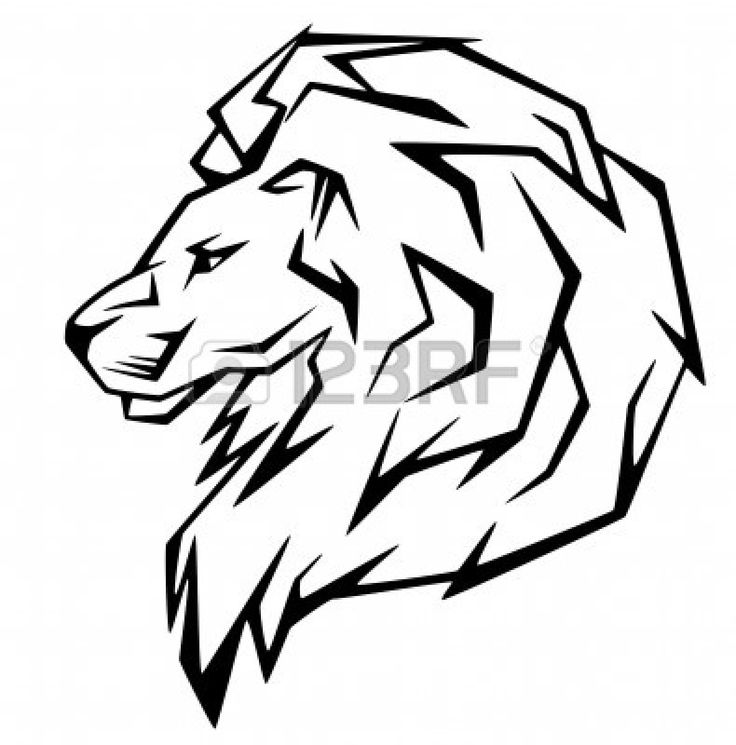 736x745 45 best Simple Lion Head Tattoo Art images Sketches