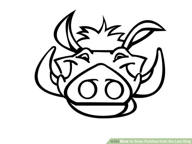 728x546 How to Draw Pumbaa from the Lion King (with Pictures)