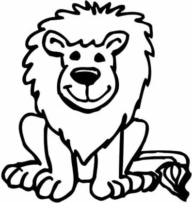 396x420 Lion Cartoon Drawing