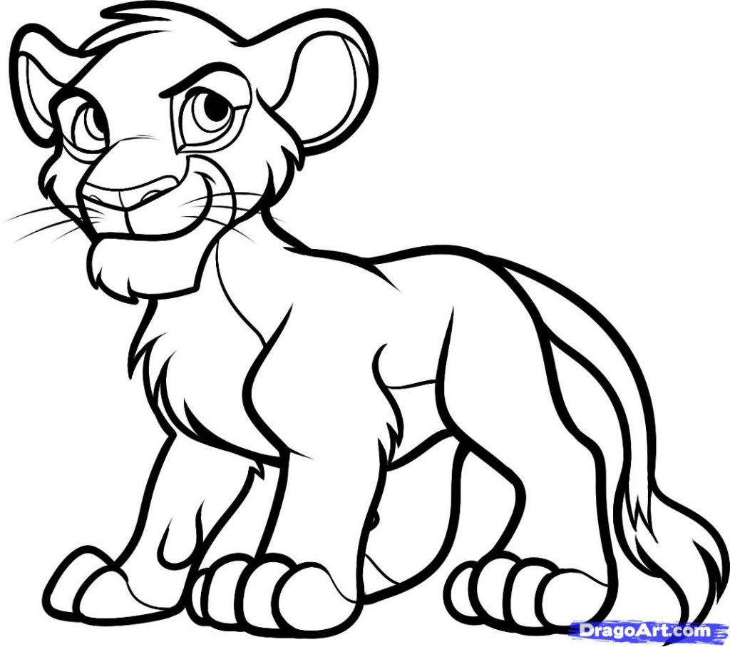1024x907 Lion King Drawings Lion King Cartoon Drawing Related Keywords Amp
