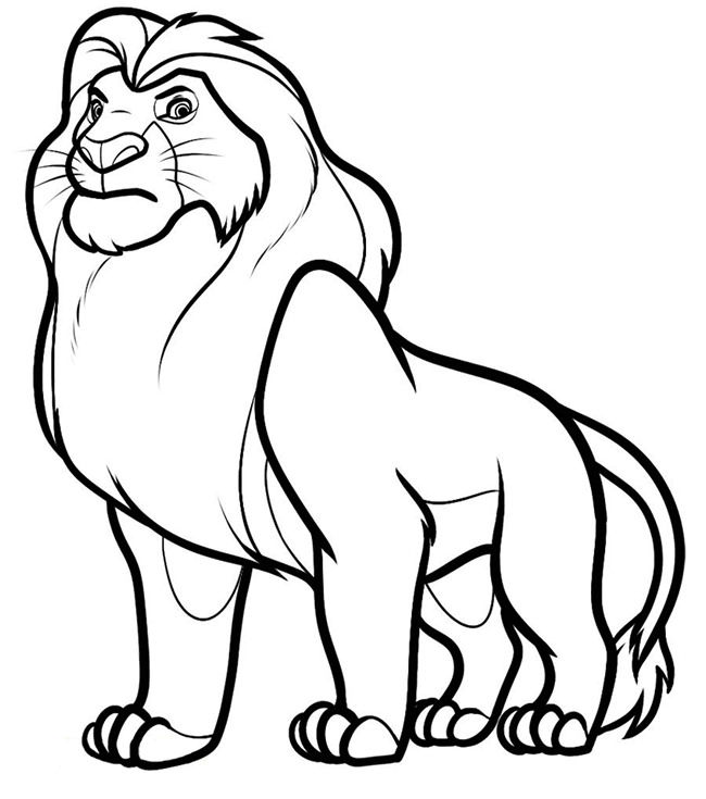 650x735 Lion Template