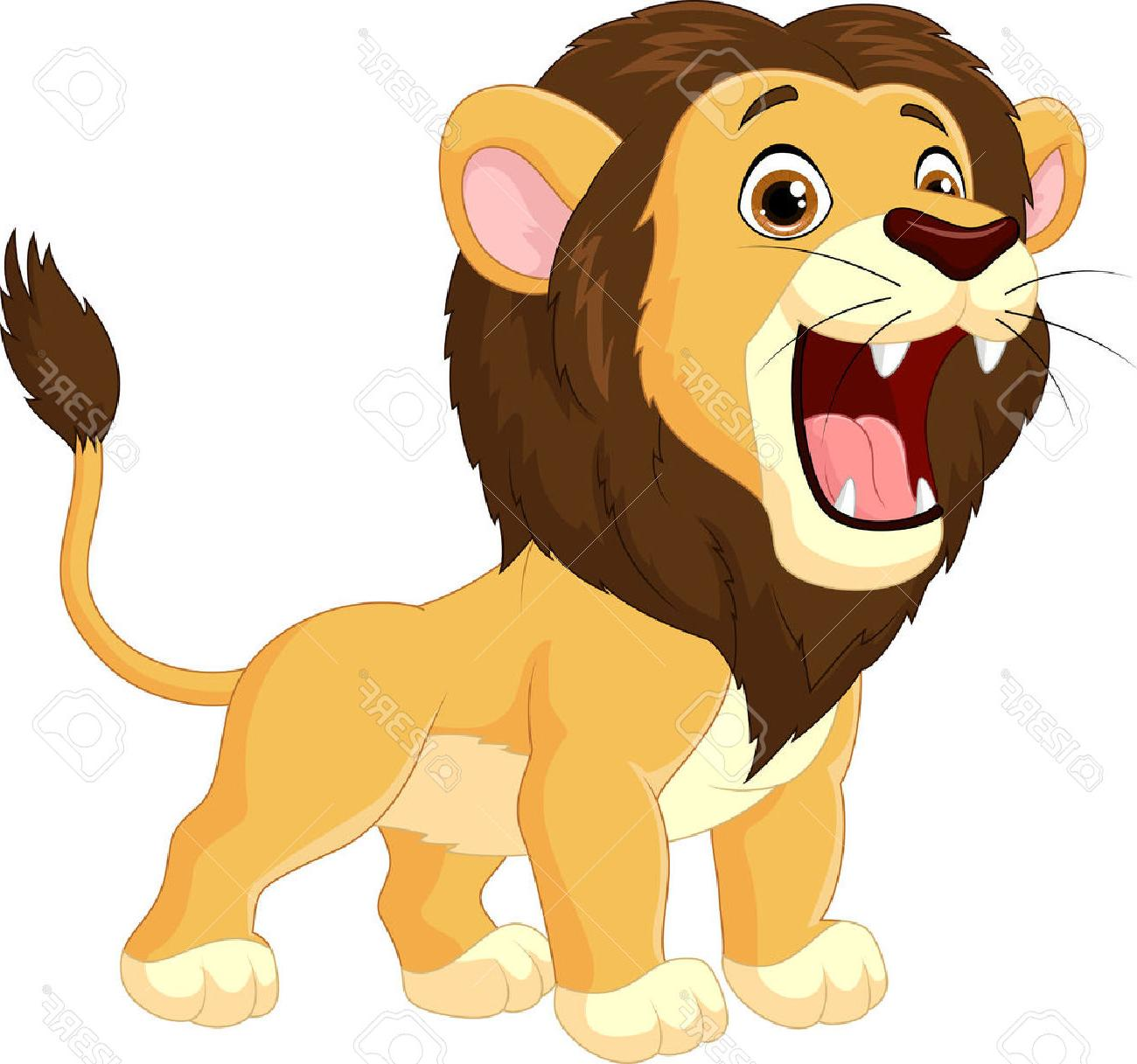 1300x1217 Best 15 Cartoon Lion Roaring Stock Vector Drawing Images