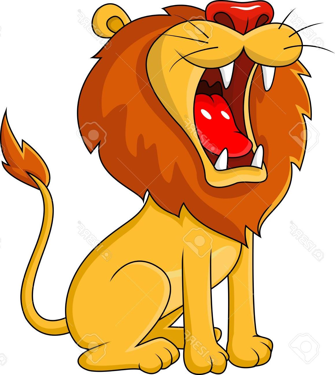 1159x1300 Best HD Lion Roaring Cartoon Stock Vector Drawing Images