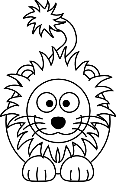 384x599 Cartoon Lion Clip Art