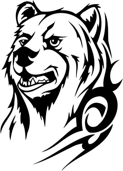 400x555 Bear Tattoo Designs Tattoos Tribal Bear Bear Tattoo Ideas Tribal