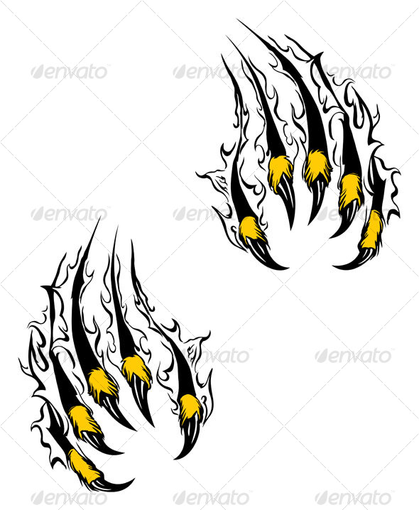 590x718 Lion Claw Marks Clipart