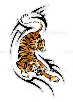 236x329 Paw print tattoos Print tattoos and Tribal tiger