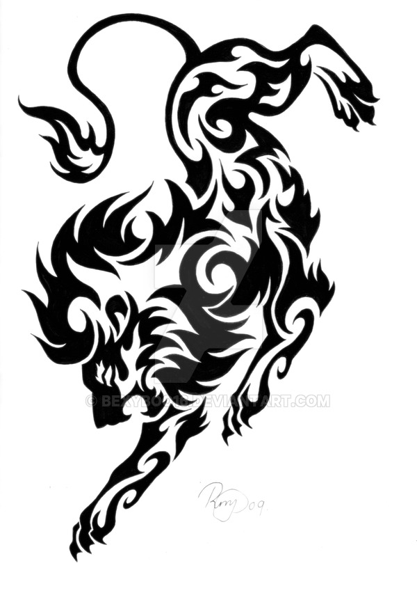 600x852 Tribal lion tattoo design. I got inspiration for this design from