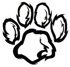 236x228 lion shilouette clipart Royalty Free Paw Print With Claws Clip