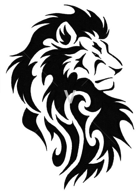 450x633 13 best Lion Tribal Tattoos images Black tattoos