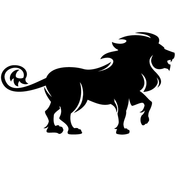 600x600 Lion Black And White Lion Clipart Black And White 2