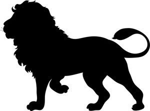 300x222 Lion Black And White Free Silhouette Clip Art Image Of A Lion