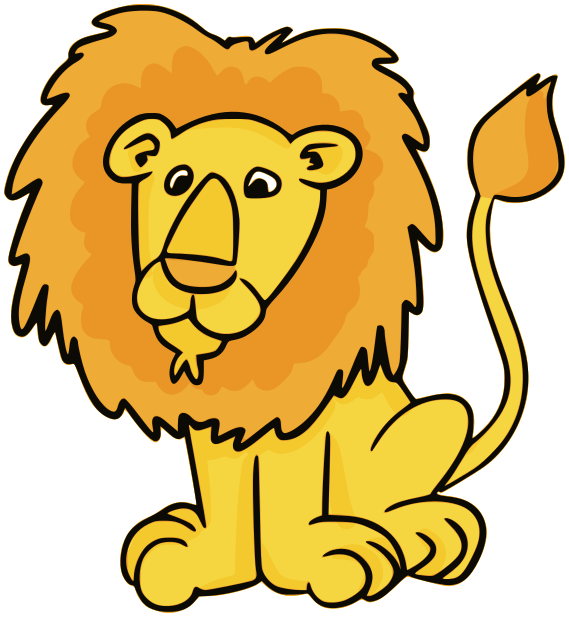 569x617 Lion clip art black and white free clipart images