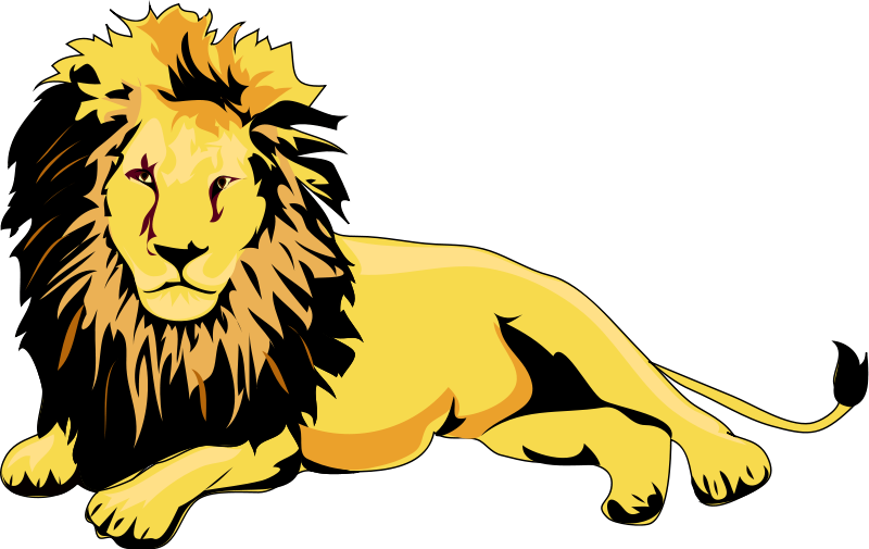 800x505 Lion clip art black and white free clipart images 3