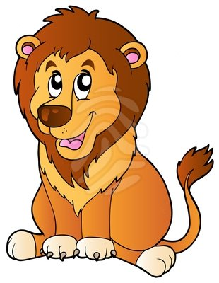 310x400 Lion Clipart Vector