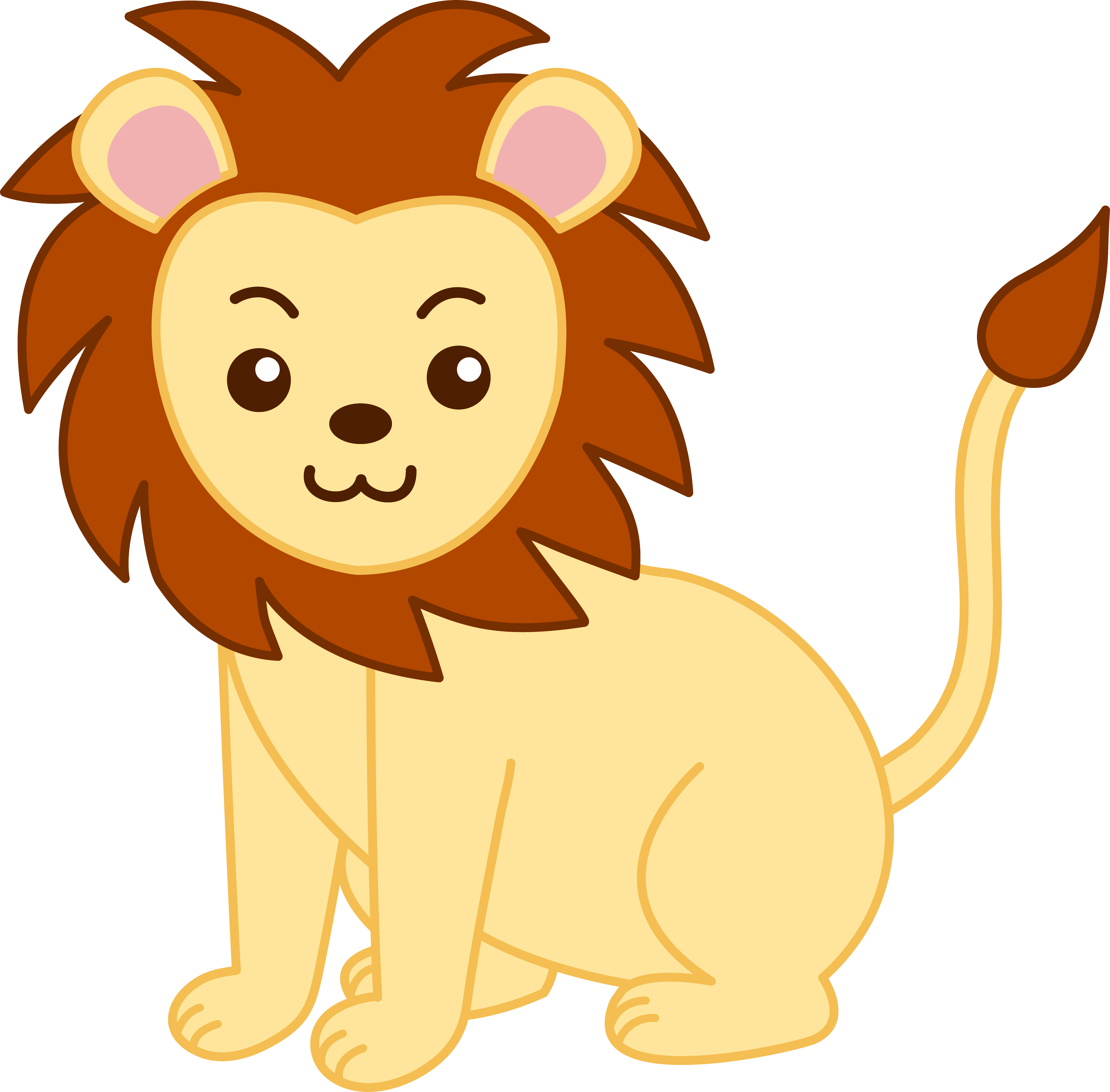 5171x5087 Little Golden Lion Clip Art