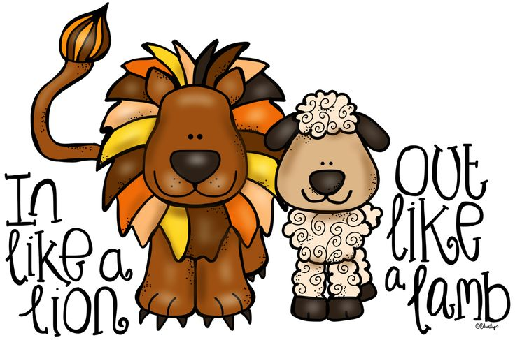 736x487 March Lion And Lamb Clip Art Image