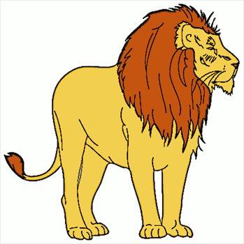 349x350 lion clip art