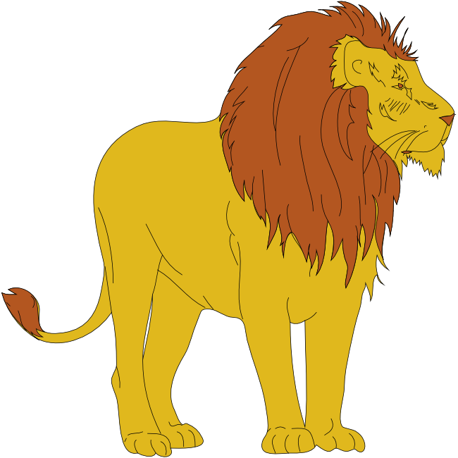 650x650 Lion clip art black and white free clipart images 5
