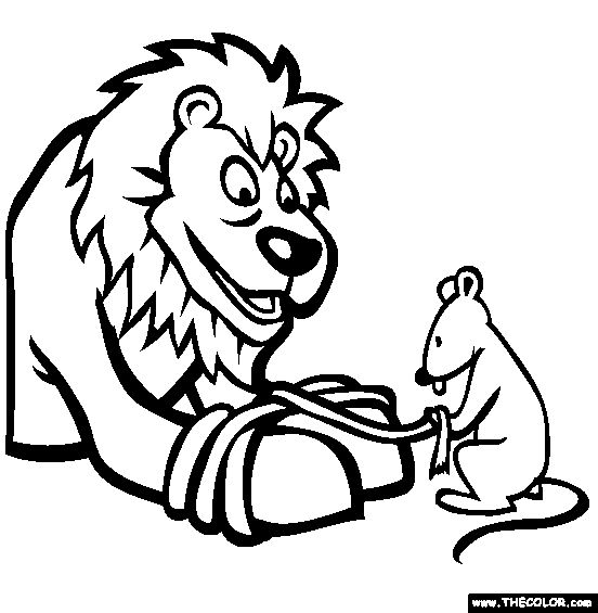 552x565 The Mouse And The Lion Clipart