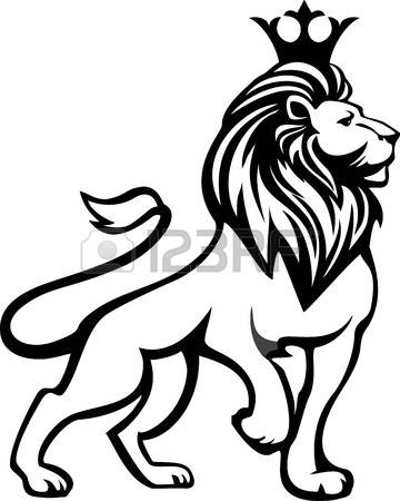 360x450 White Lion Clipart Mammal