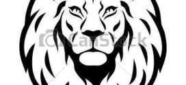 272x125 Lion Black And White Lion Face Clipart Black And White