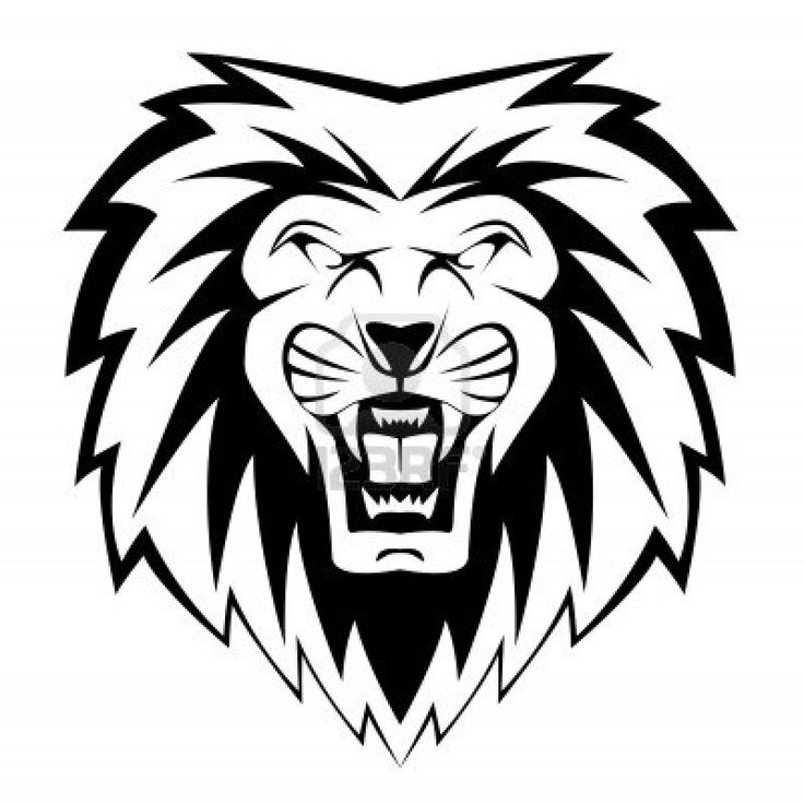 736x736 Lion Head Clipart For Kids Black And White