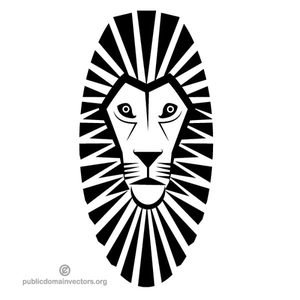 300x300 7891 Lion Head Silhouette Clip Art Public Domain Vectors