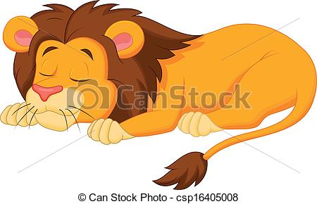 450x290 Sleepy lion clipart