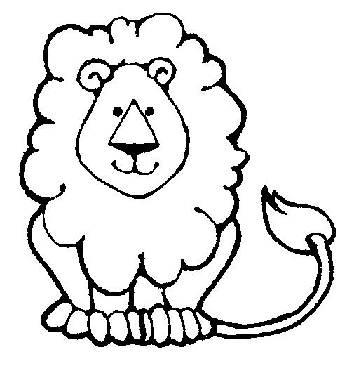 505x521 White Lion clipart black n white