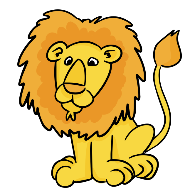 664x668 cartoon male lion clip art Clipart Panda