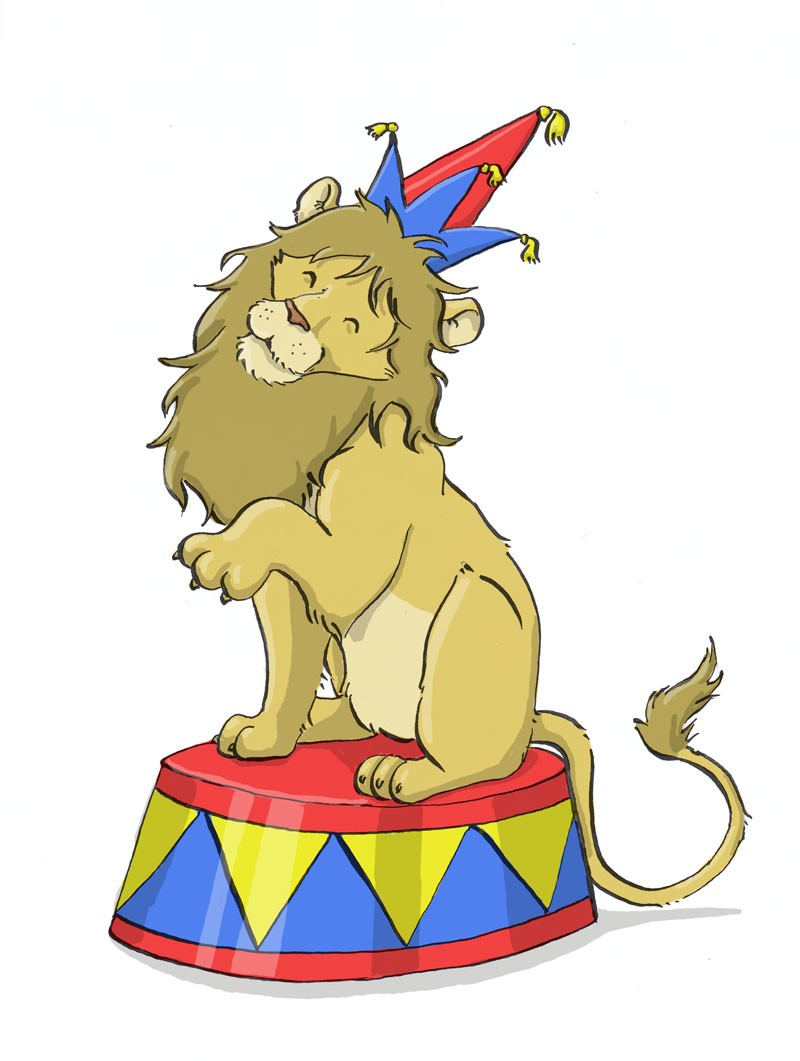 800x1061 Free Circus Lion Clipart Image