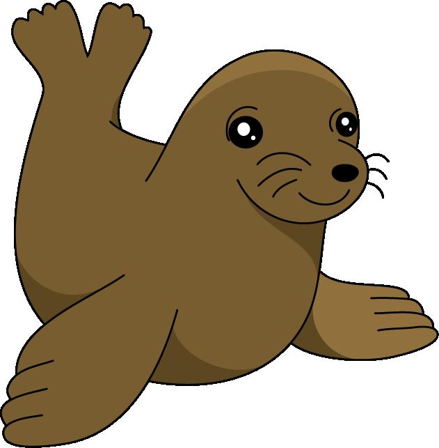 631x643 Sea Lion Clip Art