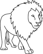 145x180 Free Black And White Animals Outline Clipart