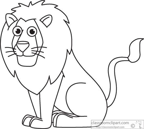 550x490 Lion Clipart Outline