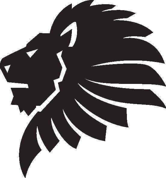 552x594 Lion Face Outline Cut Clip Art