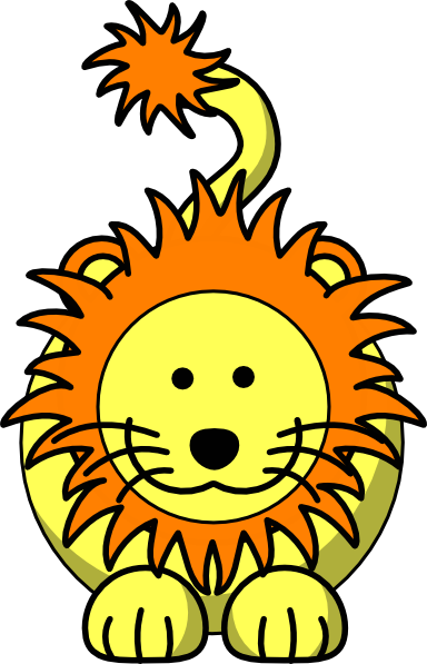 384x597 Free Baby Lion Clipart Image