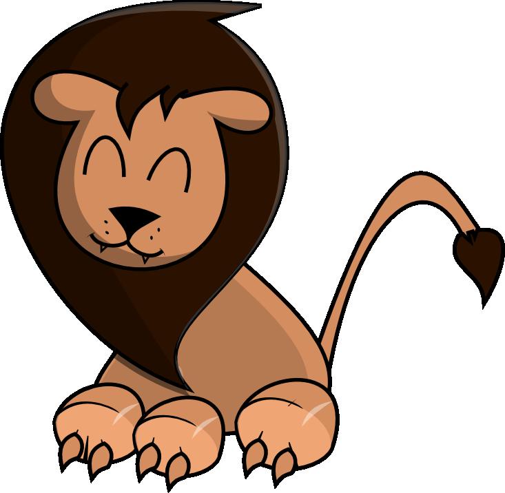 733x716 Image Of Lion Clipart