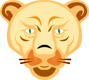 300x269 Lion Face Cartoon Clip Art Free Vector 4vector
