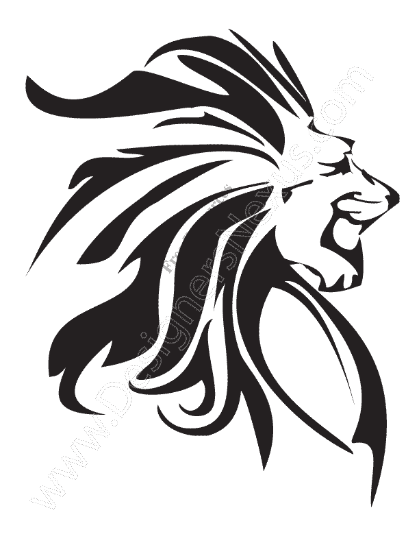 612x792 V12 Free Animal Vector Graphics Lion Clip Art Stencil