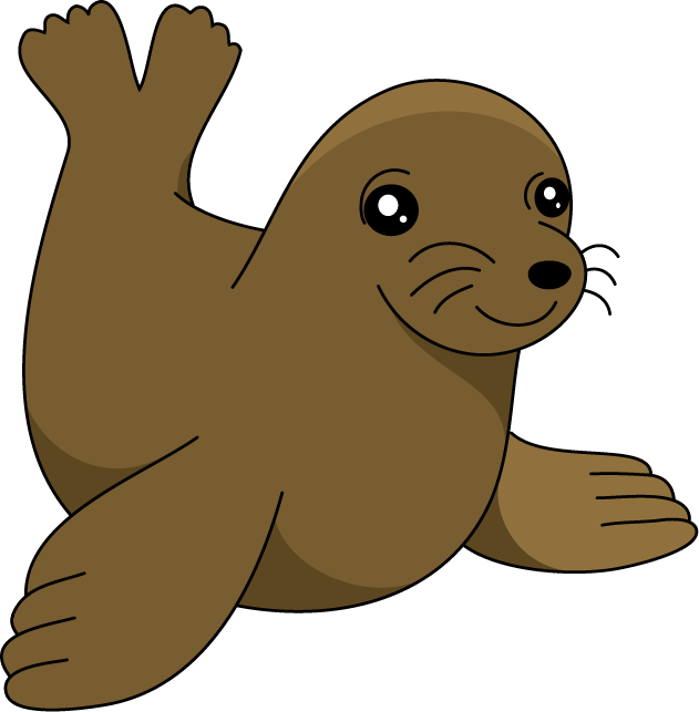 631x643 Sea Lion Clipart